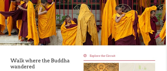 Website and marketing collateral development for Buddhist Circuit, India